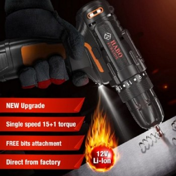 Habo WKS12 12V Li-Ion Cordless Drill with Carry Case