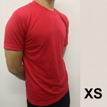 Microfiber Round Neck T-Shirt Size XS - Red
