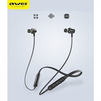 Awei G10BL Stereo Bluetooth Sports Earphones Neckband Wireless Magnetic Absorption Earbuds