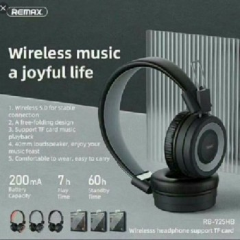 Remax RB-725HB-B Card Wireless Headphone V5.0-Black