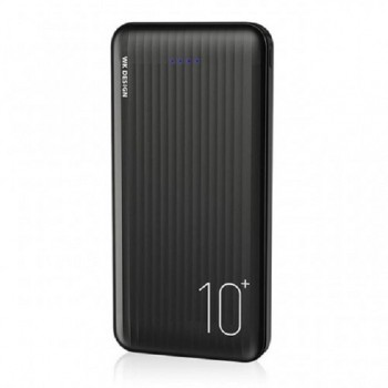 WK Design WP129-B 10000mAh Power Bank with Type-C & Micro Input Fast Charging - Black