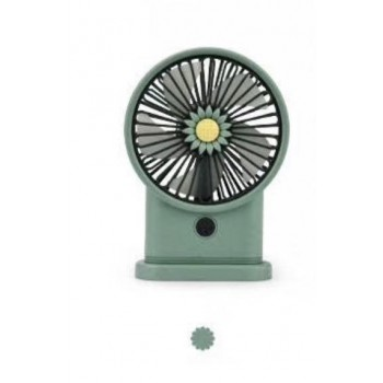 Yase YS2213B-G Portable Rechargeable Green Mini USB Fan with LED Light & 3 Speeds