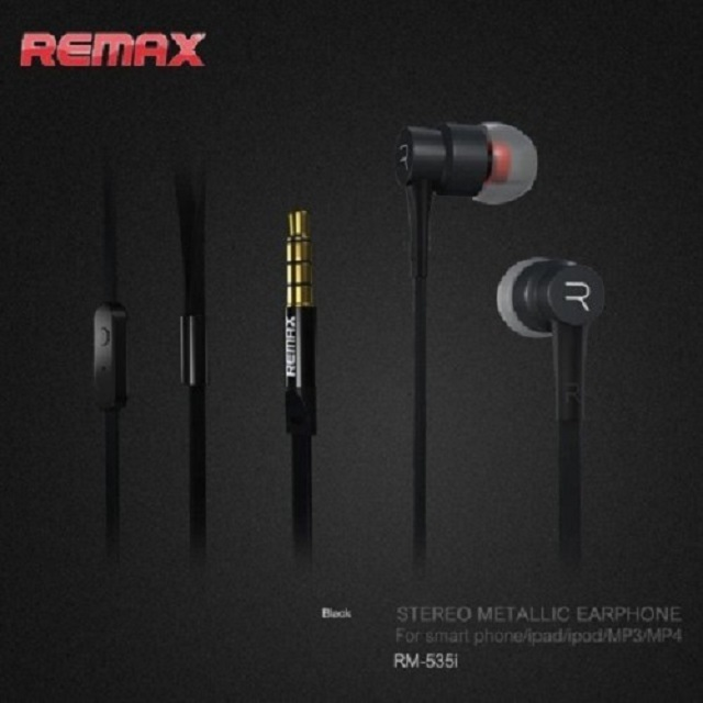Remax RM-535-B Electronic Music Headset Earbuds Stereo With MIC-Black